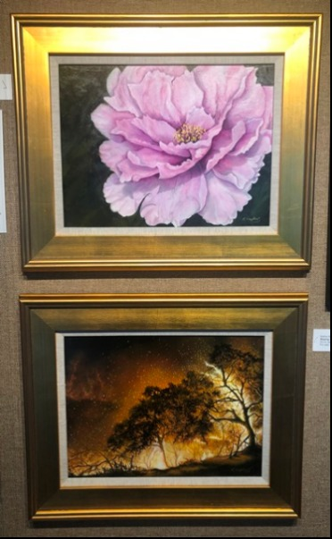 flower and landscape paintings