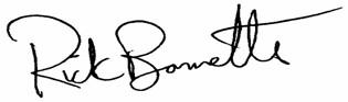 Mayor Rick Bonnette Signature