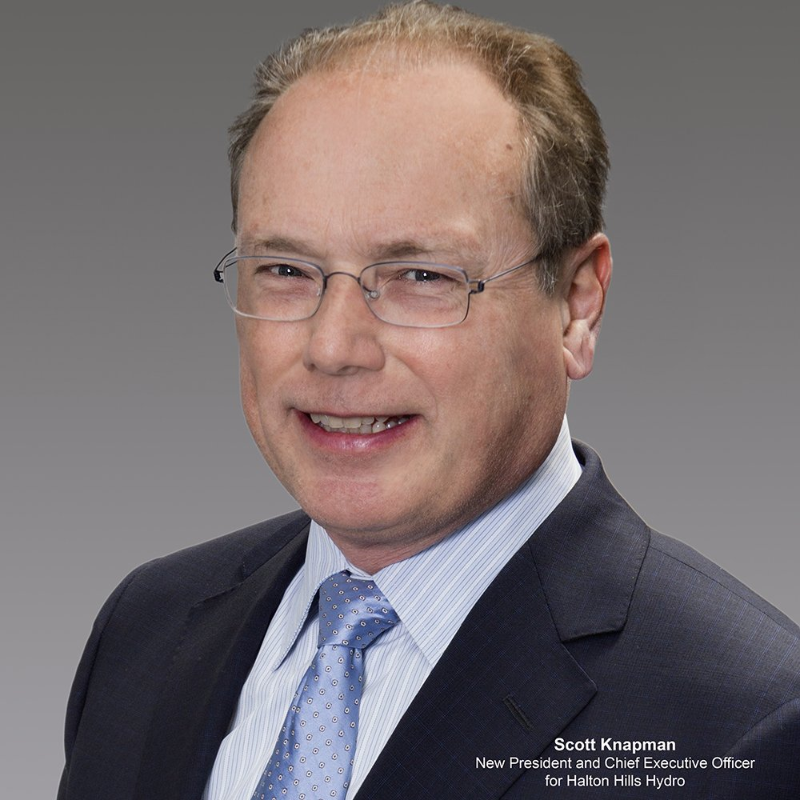 Scott Knapman new President and CEO for Halton Hills Hydro